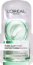 Düfte, Parfümerie und Kosmetik Reinigende Gesichtsmaske mit natürlichem Ton und Eukalyptus - L'Oreal Paris Skin Expert (Probe)