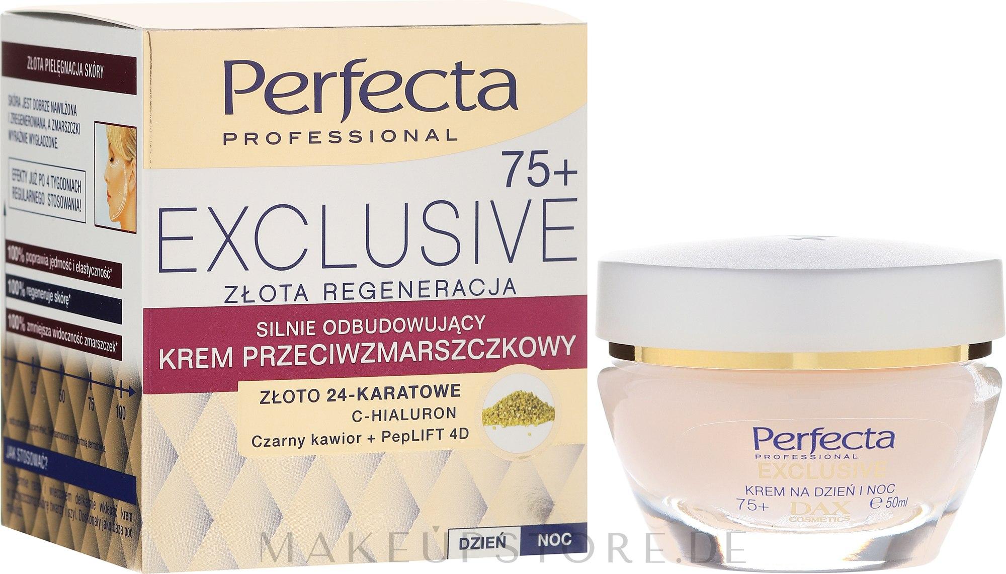 Regenerierende Antifaltencreme - Perfecta Exclusive Face Cream 75+ — Bild 50 ml
