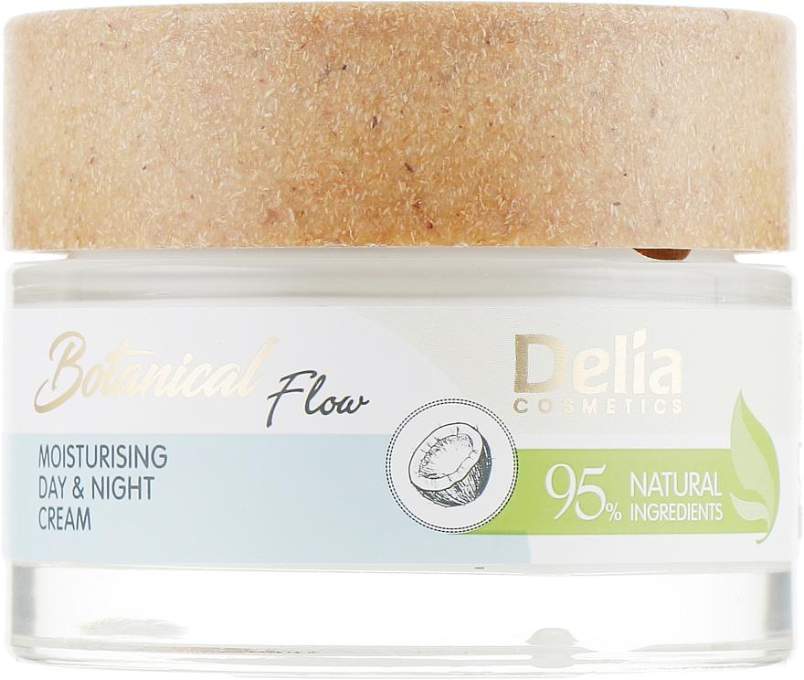 Feuchtigkeitsspendende Gesichtscreme für Tag und Nacht mit natürlichem Kokosnussöl - Delia Botanical Flow Moisturising Day & Night Cream Coconut Oil — Bild N2