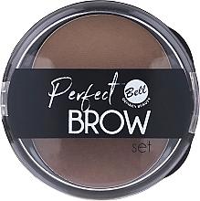 Düfte, Parfümerie und Kosmetik Augenbrauen Lidschatten-Palette mit Applikator - Bell Perfect Brow Set