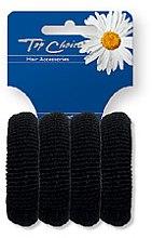 Düfte, Parfümerie und Kosmetik Haargummis schwarz 4 St. 22531 - Top Choice