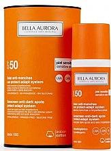 Düfte, Parfümerie und Kosmetik Hypoallergenes Sonnenschutzfluid für das Gesicht gegen dunkle Flecken SPF 50+ - Bella Aurora Solar Anti-Stain Sensitive Skin SPF50+
