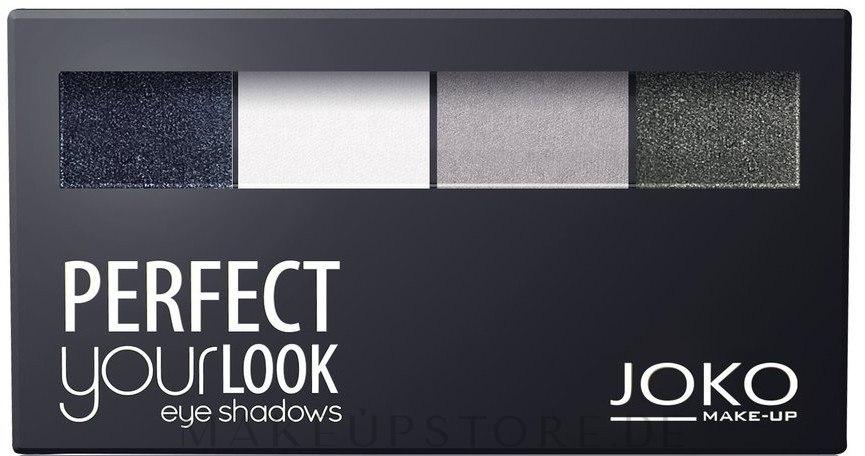 Lidschatten-Quartett - Joko Perfect Your Look Quattro Eye Shadows New — Bild 400 Creamy