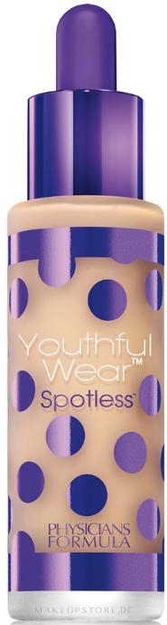 Foundation mit Foundationpinsel - Physicians Formula Youthful Wear Spotless Foundation SPF 15 — Bild Light/Medium