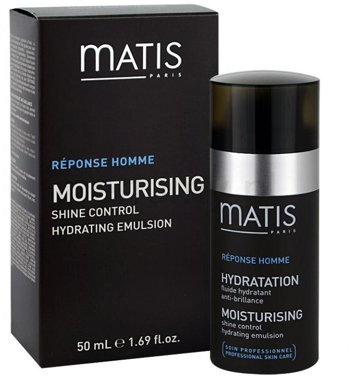 Feuchtigkeitsspendende Gesichtsemulsion für mattes Hautaussehen - Matis Reponse Homme Moisturising Shine Control Hydrating Emulsion — Bild N2