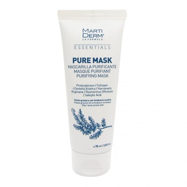 Reinigende Gesichtsmaske für fettige und zu Akne neigende Haut - MartiDerm Essentials Pure-Mask — Bild N1