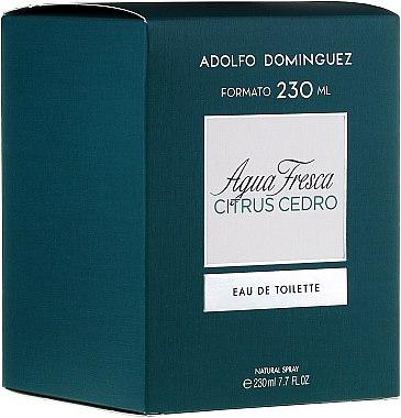 Adolfo Dominguez Agua Fresca Citrus Cedro - Eau de Toilette — Bild N2