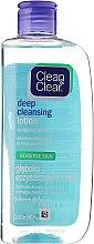 Düfte, Parfümerie und Kosmetik Tiefenreinigende Gesichtslotion für empfindliche Haut - Clean & Clear Deep Cleansing Lotion