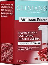 Düfte, Parfümerie und Kosmetik Anti-Falten Creme-Balsam für Augen und Lippen mit Granatapfelextrakt - Clinians Antirughe Quotidiana