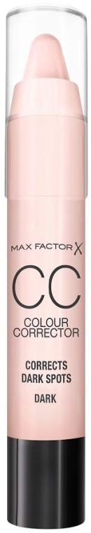 CC Korrekturstift gegen dunkle Flecken - Max Factor CC Colour Corrector Corrects Dark Spots Dark — Bild N1
