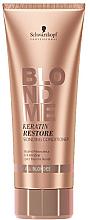 Düfte, Parfümerie und Kosmetik Keratin Conditioner zur Regeneration des blonden Haares - Schwarzkopf Professional Blondme Keratin Restore Bonding Conditioner