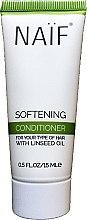 Düfte, Parfümerie und Kosmetik Haarspülung mit Leinöl für besseres Styling - Naif Softening Conditioner (Mini)