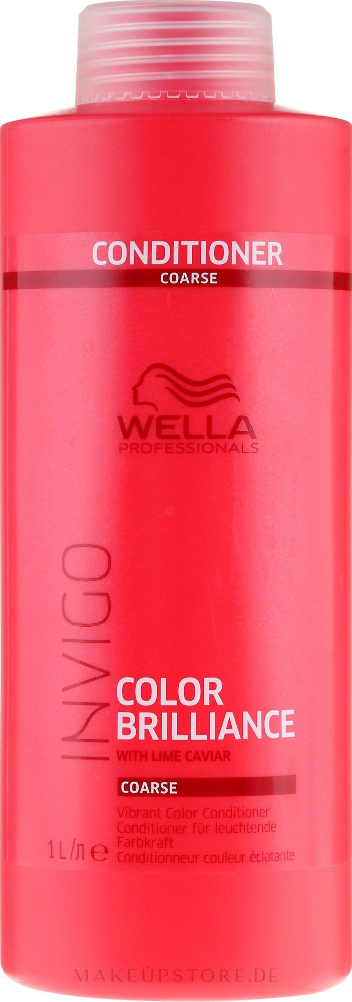 Haarspülung für coloriertes Haar - Wella Professionals Invigo Colour Brilliance Coarse Conditioner — Bild 1000 ml