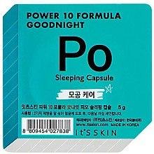 Düfte, Parfümerie und Kosmetik Nachtmaske für das Gesicht in einer Power-Kapsel zur Porenverkleinerung - It's Skin Power 10 Formula Goodnight Po Sleeping Capsule