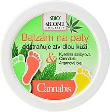 Düfte, Parfümerie und Kosmetik Aufweichender Fersenbalsam mit Cannabis - Bione Cosmetics Cannabis Heel Balm Removes Hard Skin