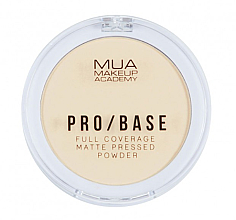 Düfte, Parfümerie und Kosmetik Mattierender gepresster Kompaktpuder für das Gesicht - MUA Pro-Base Full Coverage Matte Pressed Powder