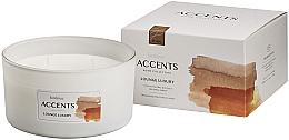 Düfte, Parfümerie und Kosmetik 3-Docht Duftglas Lounge Luxury - Bolsius Home Collection Accents 75 mm x Ø137 mm