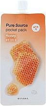 Düfte, Parfümerie und Kosmetik Nachtmaske für das Gesicht mit Honig-Extrakt - Missha Pure Source Pocket Pack Honey