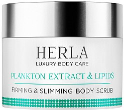 Düfte, Parfümerie und Kosmetik Straffendes Körperpeeling zum Abnehmen mit Planktonextrakt und Lipiden - Herla Luxury Body Care Plankton Extract & Lipids Firming & Slimming Body Scrub