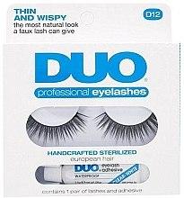 Düfte, Parfümerie und Kosmetik Wimpernpflegeset (Wimpernkleber 2,5g + Künstliche Wimpern 2St.) - Ardell Duo Lash Kit Professional Eyelashes Style D12