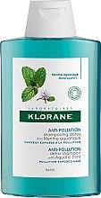 Haarpflegeset mit Minze - Klorane Aquatic Mint (Shampoo 200ml + Haarspülung 150ml) — Bild N2