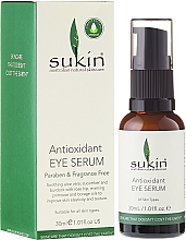 Düfte, Parfümerie und Kosmetik Antioxidatives Serum für die Augenpartie - Sukin Antioxidant Eye Serum