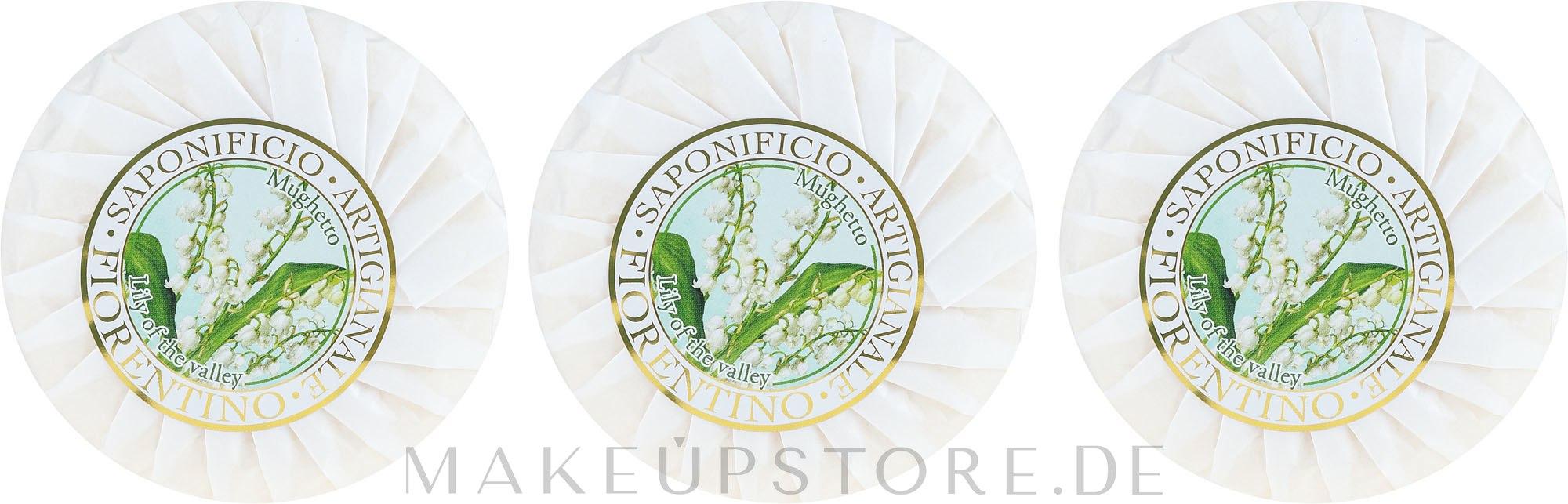 Seifenset Maiglöckchen - Saponificio Artigianale Fiorentino Lily Of The Valley Soap — Bild 3 x 100 g
