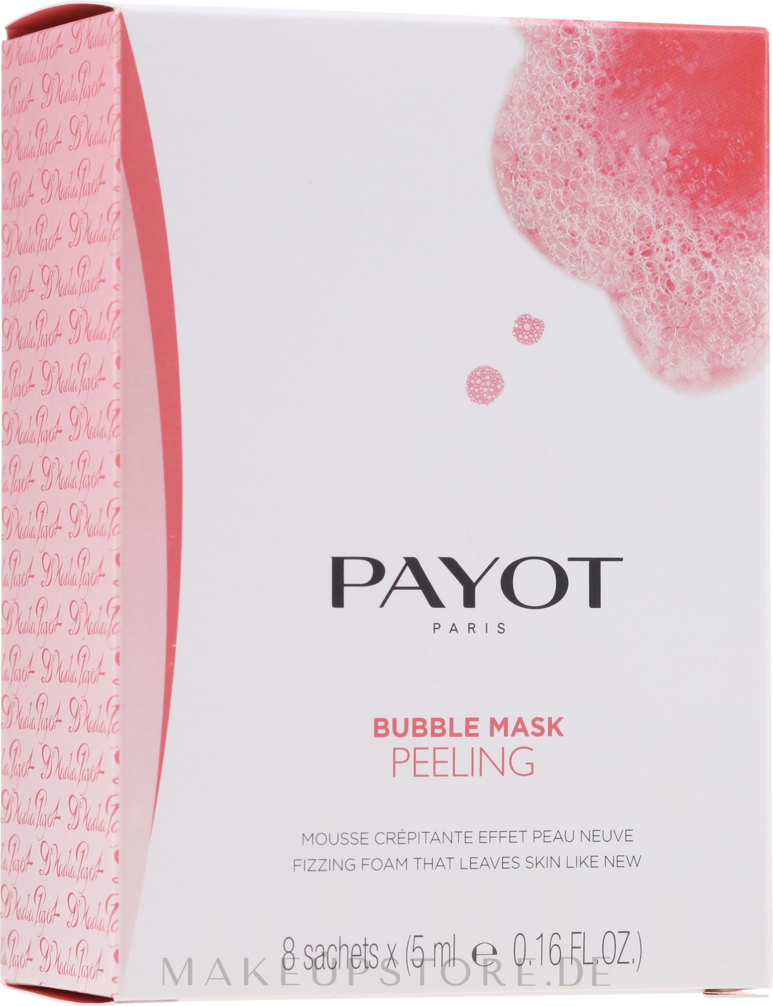 Sauerstoffspendende und reinigende Peelingmaske für das Gesicht - Payot Les Demaquillantes Peeling Oxygenant Depolluant Bubble Mask — Bild 8 x 5 ml