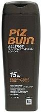 Düfte, Parfümerie und Kosmetik Sonnenschutzende Körperlotion für allergische und empfindliche Haut SPF 15 - Piz Buin Allergy Sun Sensitive Skin Lotion SPF15