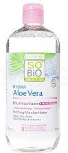 Düfte, Parfümerie und Kosmetik Mildes Mizellenwasser mit Aloe Vera - So'Bio Etic Hydra Aloe Vera Soothing Micellar Water