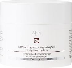 Düfte, Parfümerie und Kosmetik Straffende und glättende Gesichtsmaske mit weißem Ton und Zink - APIS Professional Tightening And Smoothing Mask