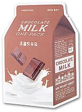 Düfte, Parfümerie und Kosmetik Tuchmaske für das Gesicht mit Schokolade - A'pieu Chocolate Milk One-Pack