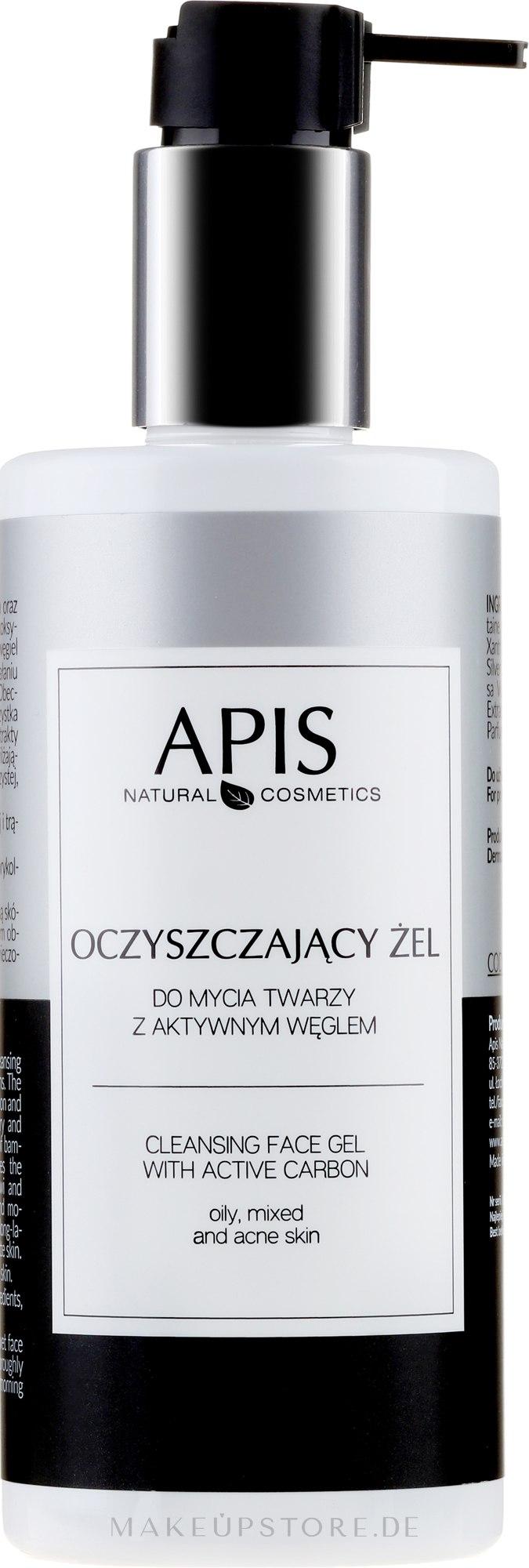 Gesichtsreinigungsgel mit Aktivkohle - APIS Professional Cleansing Gel — Bild 300 ml