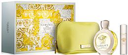 Düfte, Parfümerie und Kosmetik Versace Eros Pour Femme - Set (Eau de Parfum/100ml + Mini/10ml + Kosmetiktasche)