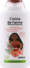 Düfte, Parfümerie und Kosmetik 3in1 Shampoo, Duschgel und Badeschaum für Kinder Vaiana - Corine de Farme Vaiana Shower Gel 3 in 1