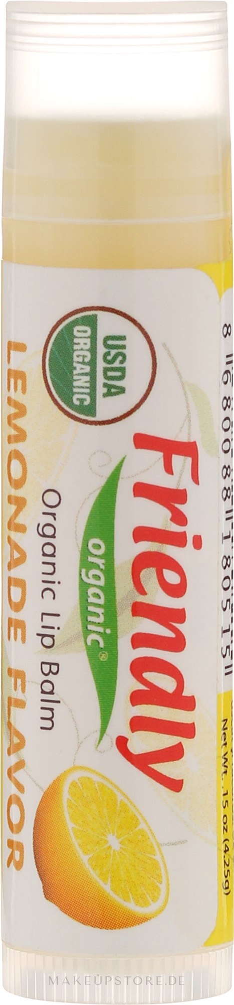 "Bio-Lippenbalsam ""Limonade"" - Friendly Organic Lip Balm Lemonade — Bild 4.25 g"