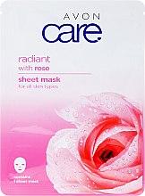 Düfte, Parfümerie und Kosmetik Aufhellende Tuchmaske mit Rosenextrakt - Avon Care Radiant Sheet Mask With Rose