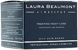 Düfte, Parfümerie und Kosmetik Feuchtigkeitsspendende, nährende und zellerneuernde Nachtcreme gegen Entzündungen - Laura Beaumont Treating Night Care