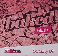 Düfte, Parfümerie und Kosmetik Kompaktes Rouge - Beauty UK Cosmetics Baked Blusher (1 - Popsicle Pink)