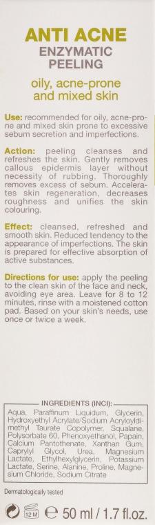 Enzymatisches Anti-Akne Gesichtspeeling für fettige und Mischhaut - Floslek Anti Acne Peeling — Bild N3