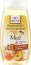 Regenerierendes Shampoo mit Honig und Coenzym Q10 - Bione Cosmetics Honey + Q10 Shampoo — Bild N1