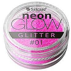 Glitterpuder für Nägel - Silcare Brokat Neon Glow — Bild N1