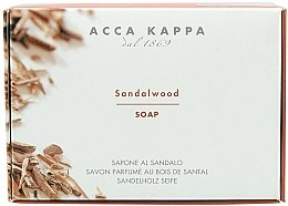 Düfte, Parfümerie und Kosmetik Parfümierte Körperseife mit Sandelholz - Acca Kappa Sandalwood