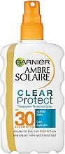 Düfte, Parfümerie und Kosmetik Extra wasserfestes und transparentes Sonnenschutzspray für den Körper SPF 30 - Garnier Ambre Solaire Clear Protect Spray SPF30