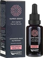 Düfte, Parfümerie und Kosmetik Anti-Aging Gesichtsserum mit bulgarischem Rosenöl - Wooden Spoon Super Seeds Bulgarian Rose Oil Anti-aging Facial Serum