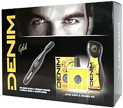 Düfte, Parfümerie und Kosmetik Männerset - Denim Gold (After Shave Lotion 100 ml, Duschgel 250 ml und Bart- und Haartrimmer)