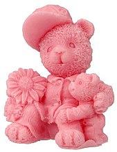 Düfte, Parfümerie und Kosmetik Handgemachte Naturseife Zwei Teddybären mit Kirschduft - LaQ Happy Soaps