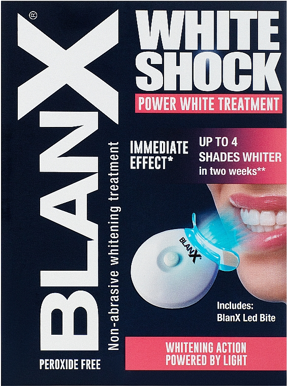 Intensiv aufhellende Zahnbehandlung - BlanX White Shock Treatment + Led Bite