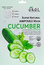 Düfte, Parfümerie und Kosmetik Tuchmaske für das Gesicht mit Gurkenextrakt - Ekel Super Natural Ampoule Mask Cucumber