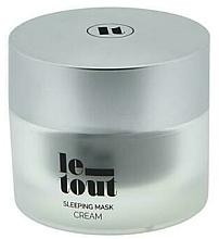 Düfte, Parfümerie und Kosmetik Feuchtigkeitsspendende Schlafmaske mit Chiaöl - Le Tout Sleeping Mask Cream Hydrating Treatment